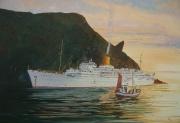 Cruiseschip Chusan P&O aan de Noordkaap