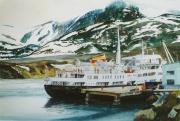 mps Lofoten te Havoysund Noorwegen