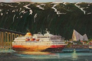 mps Nordnorge vaart Tromso binnen