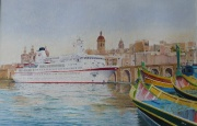 Cruiseschip ms. Berlin te Valetta, Malta