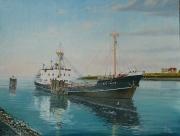 Zeehaven in Terneuzen omstreeks 1970