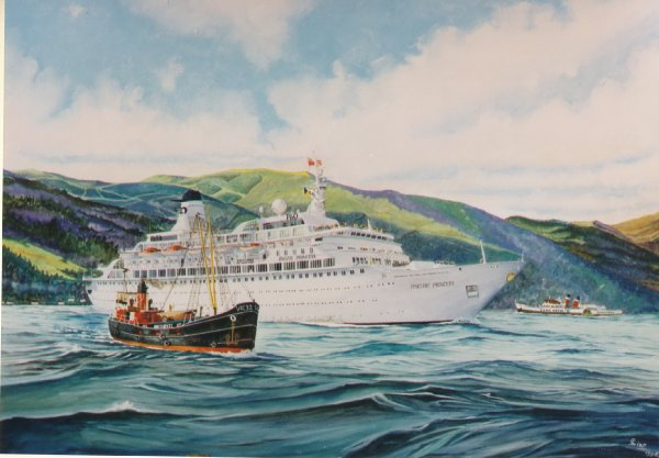 Cruiseschip Pacific Princess in Schotse waters