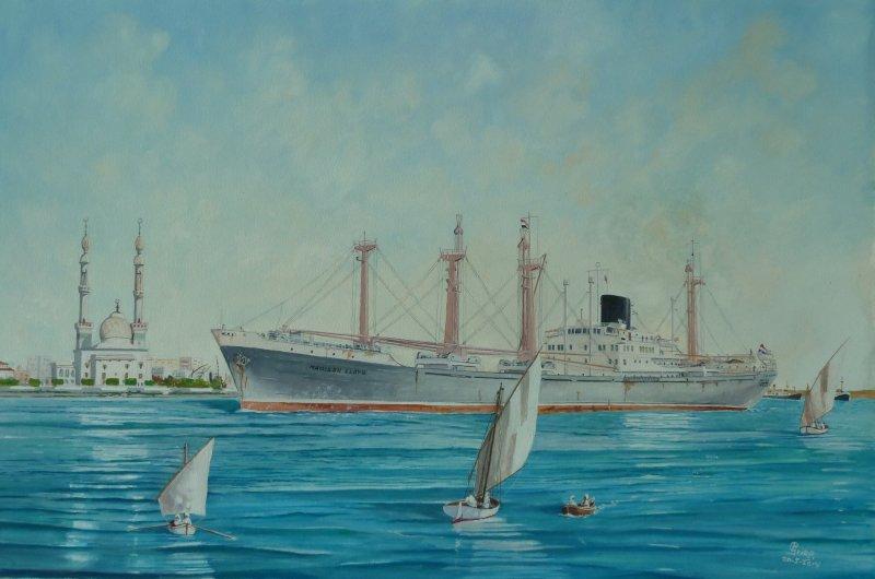 Madison Lloyd van de Rotterdamsche Lloyd passeert Suez