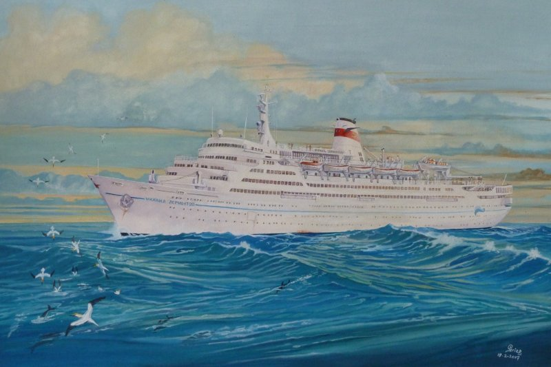 Cruiseschip Mikhail Lermontov, 1983 vorige eeuw