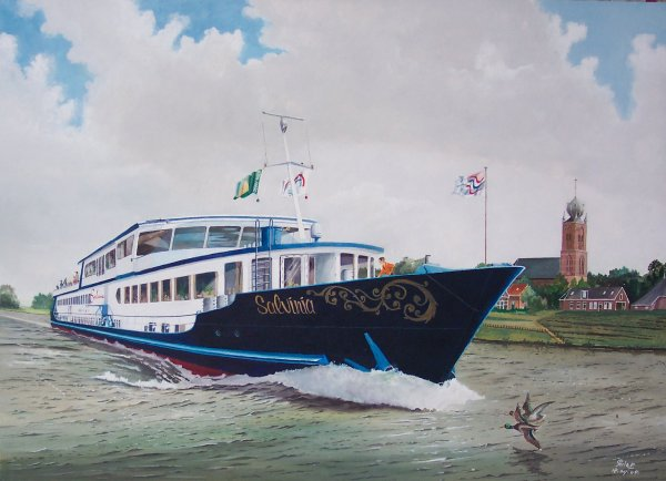 mps Salvinia op het Van Harinxma kanaal