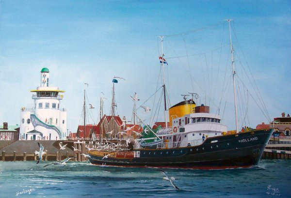 Sleepboot Holland te Harlingen