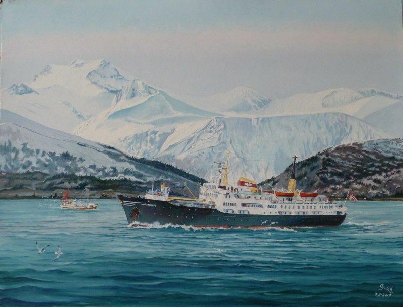 Noorse postboot NORDNORGE (Hurtigruten)