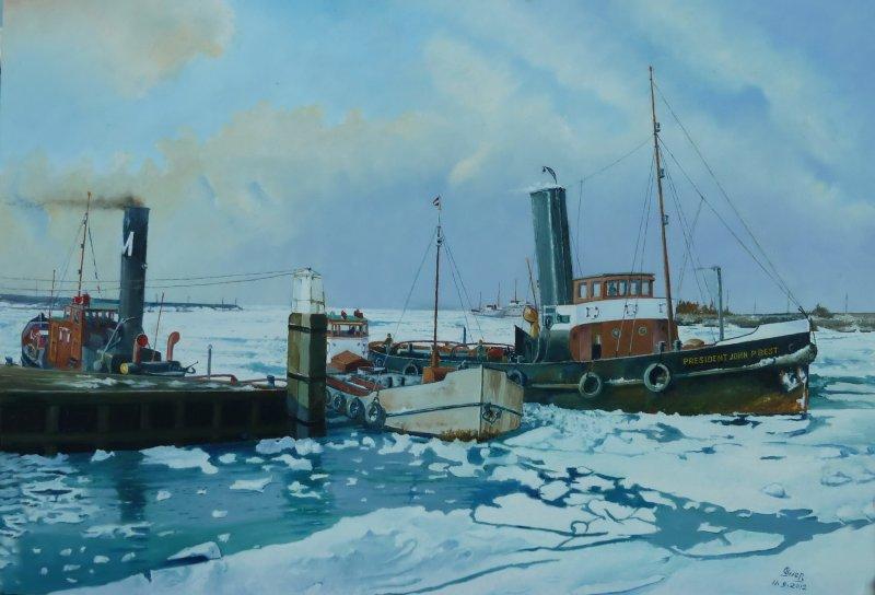 Zeehaven Terneuzen - winter 1956