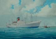 Engels vracht en passagiersschip Townsville Star Blue Star Line