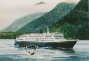 ms Columbia in de Inside Passage