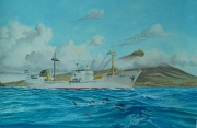 ms Meres van Nievelt Goudriaan en Co's. Stoomvaart Maatschappij N.V. passeert de Azoren