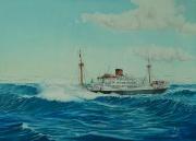 Nederlands vracht en passagiersschip m.s. Klipfontein VNS