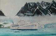 Cruiseschip Calypso te Spitsbergen