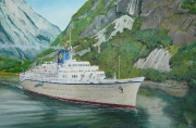 Cruiseschip Pallas Athena in de Aurlandsfjord