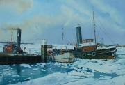 Zeehaven Terneuzen - winter 1956