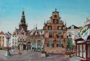 Nijmegen met de Grote Markt en de Waag